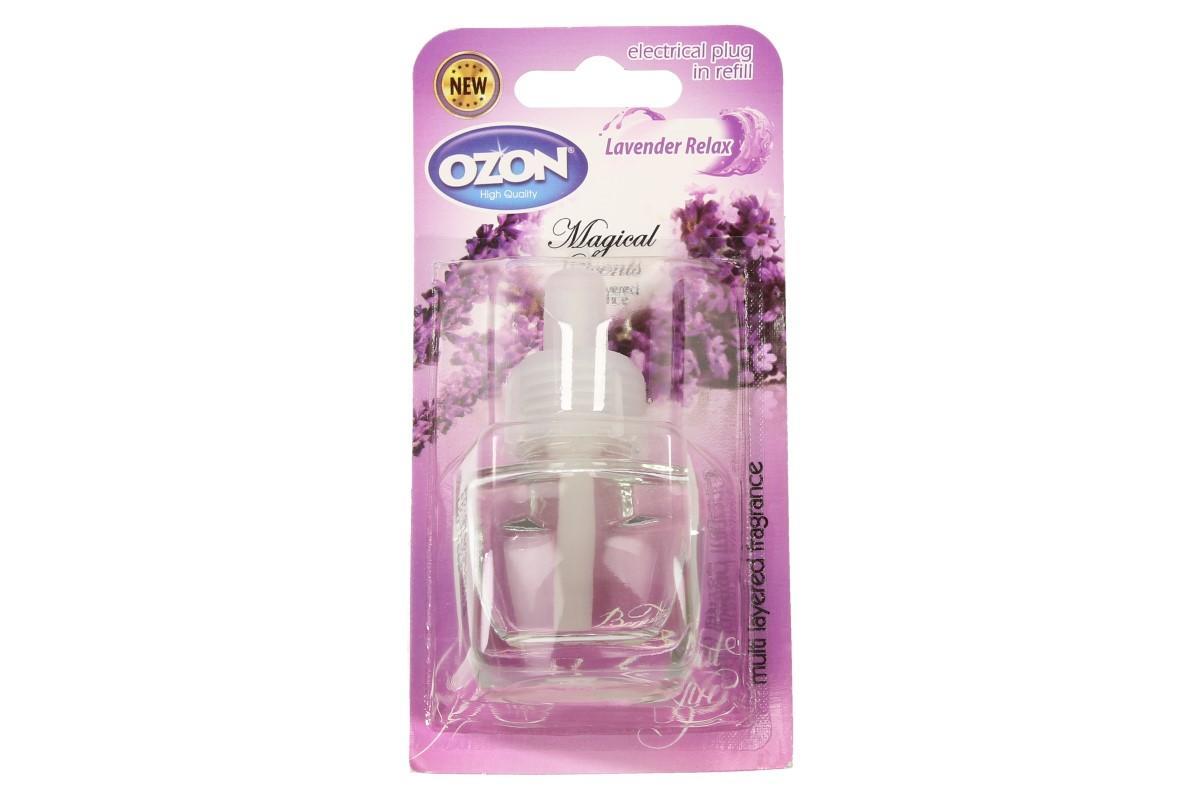 Foto 1 - Ozon - náplň do elektrického osvěžovače Levander relax smyslným a hřejivým aroma provoní váš pokoj tekutá náplň do elektrického osvěžovače vzduchu. Dopřejte si příjemnou vůni Levander relax.