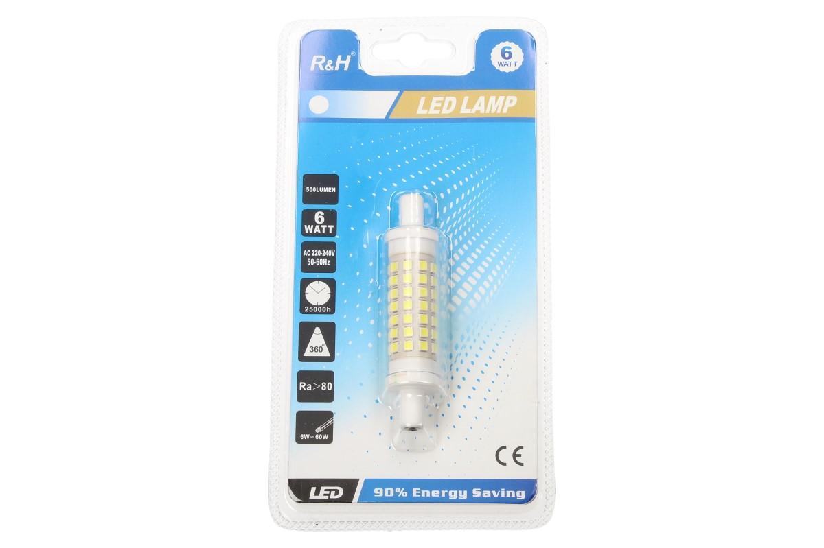Foto 1 - RH LED 6 W náhrada halogenové trubice 7,6 cm nahrazuje halogenovou trubici v reflektorech a jiných svítidlech. Díky jejímu tvaru LED žárovka dosvítí 360° do každého úhlu.