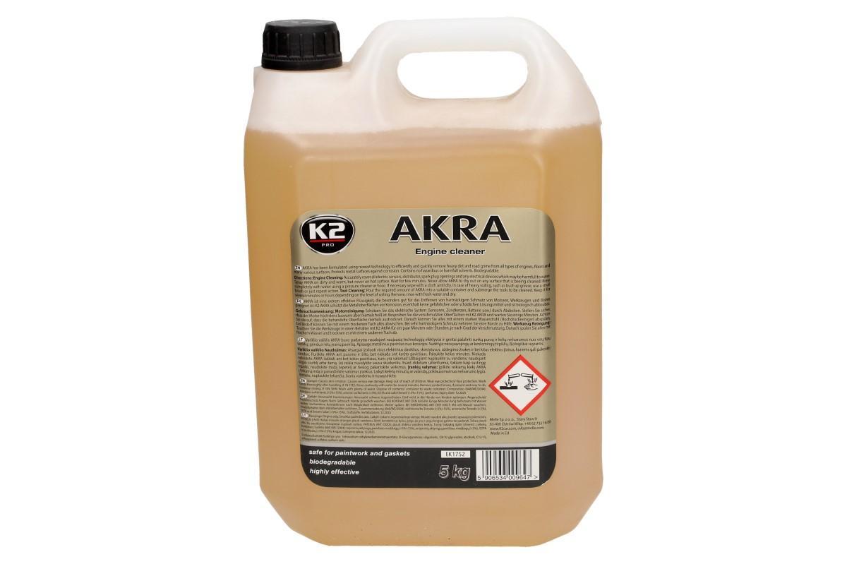 Foto 1 - K2 AKRA 5 l - čistič motoru mycí prostředek odstraní i ty nejtěžší špíny z každého složitého povrchu. Naprosto účinný a efektivní pro využití jako pěna, nízkotlakový nebo tlakový sprej.