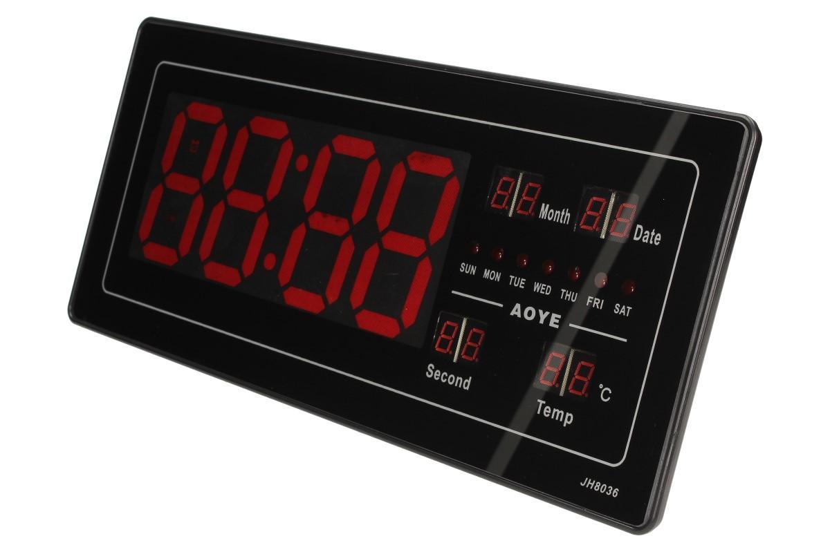 Foto 1 - Digitální hodiny 4v1 s LED displejem jsou moderní hodiny s LED podsvíceným displejem.Hodiny obsahují LED červené světlo, které dodá hodinám zajímavý vzhled.