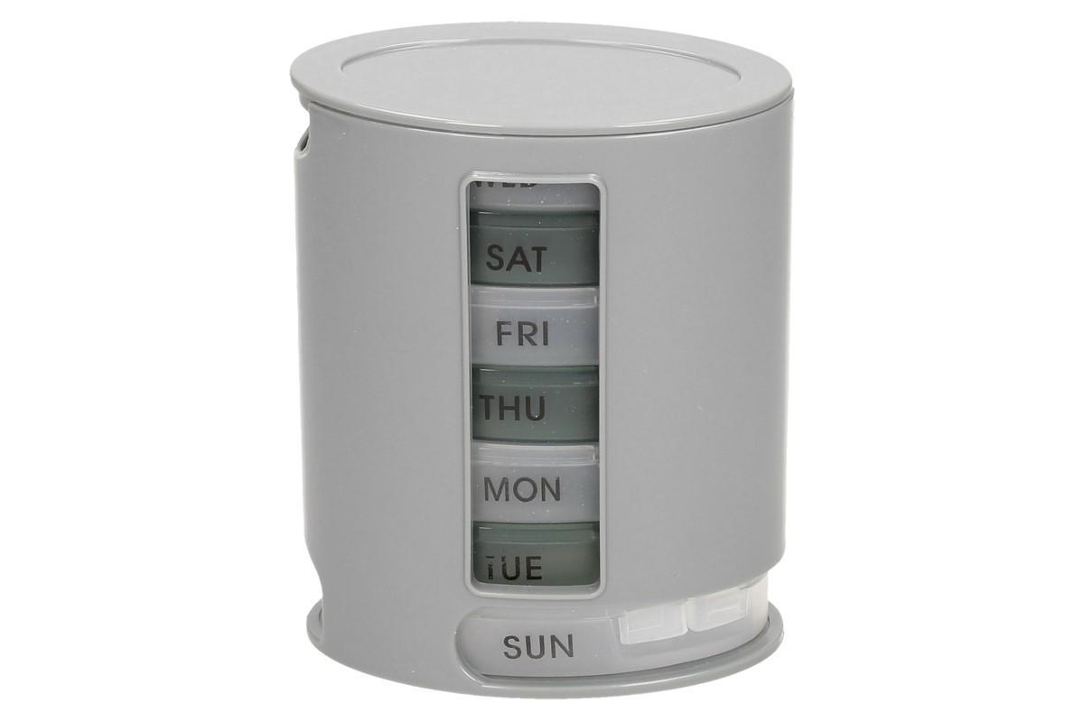 Foto 1 - Patrový dávkovač léků Pill Pro se zásuvnými políčky pro každý den v týdnu s denním dávkovačem rozdělený do 4 částí