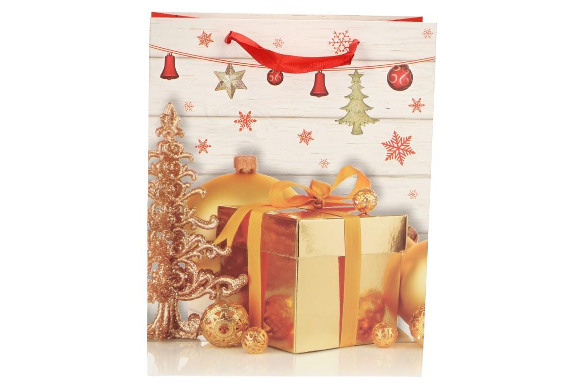 Foto 1 - Dárková vánoční taška s dárkem 23x18 cm. Krásná, kvalitní dárková taška s vánočním dárkem zaručeně potěší vás i vaše blízké.  Dárková taška je vhodná na všechny vánoční dárky.