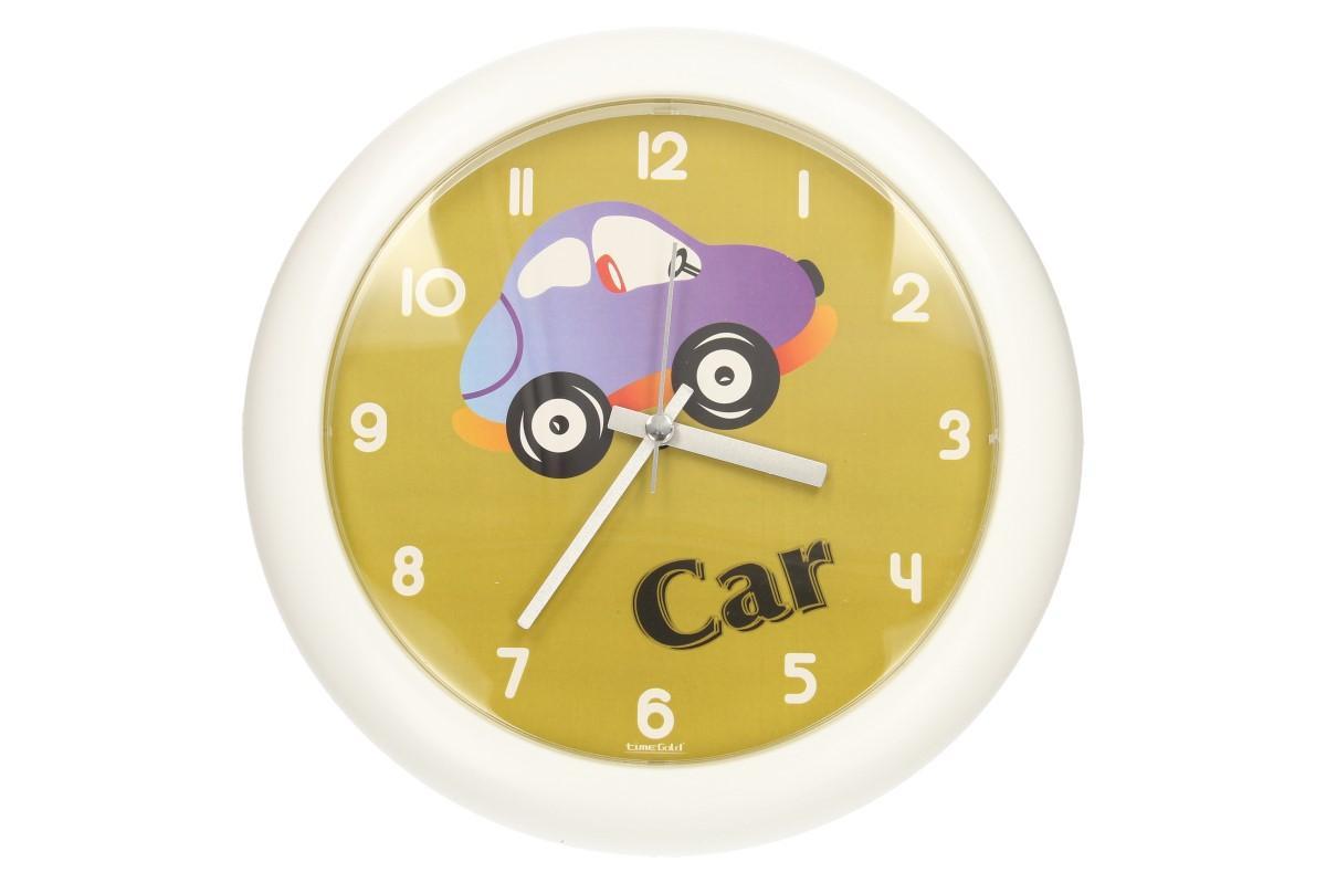 Foto 1 - Dětské nástěnné hodiny FLORINA FUNNY auto jsou ideální pro děti, které se učí žít v řádu času. Tento hravý design se hodí do každého dětského pokoje.