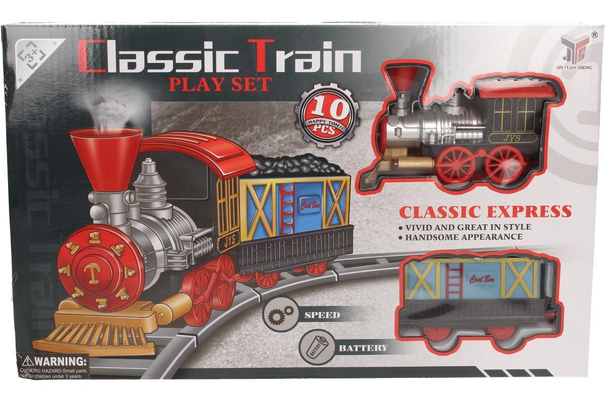 Foto 1 - Vlaková souprava na baterie Classis Train. Herní sada pro malé strojvůdce, kteří tak rádi pozorují vláčky. Nyní mohou mít vláček i s kolejemi přímo ve svém pokoji.