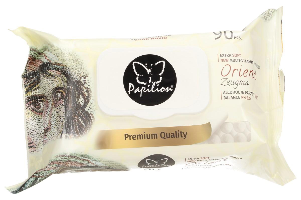 Foto 1 - Papilon vlhčené ubrousky 90 kusů - ve 2 provedení: Aroma Therapy, Orient Zeugma. Neobsahují alkohol a jsou zdravotně nezávadné.