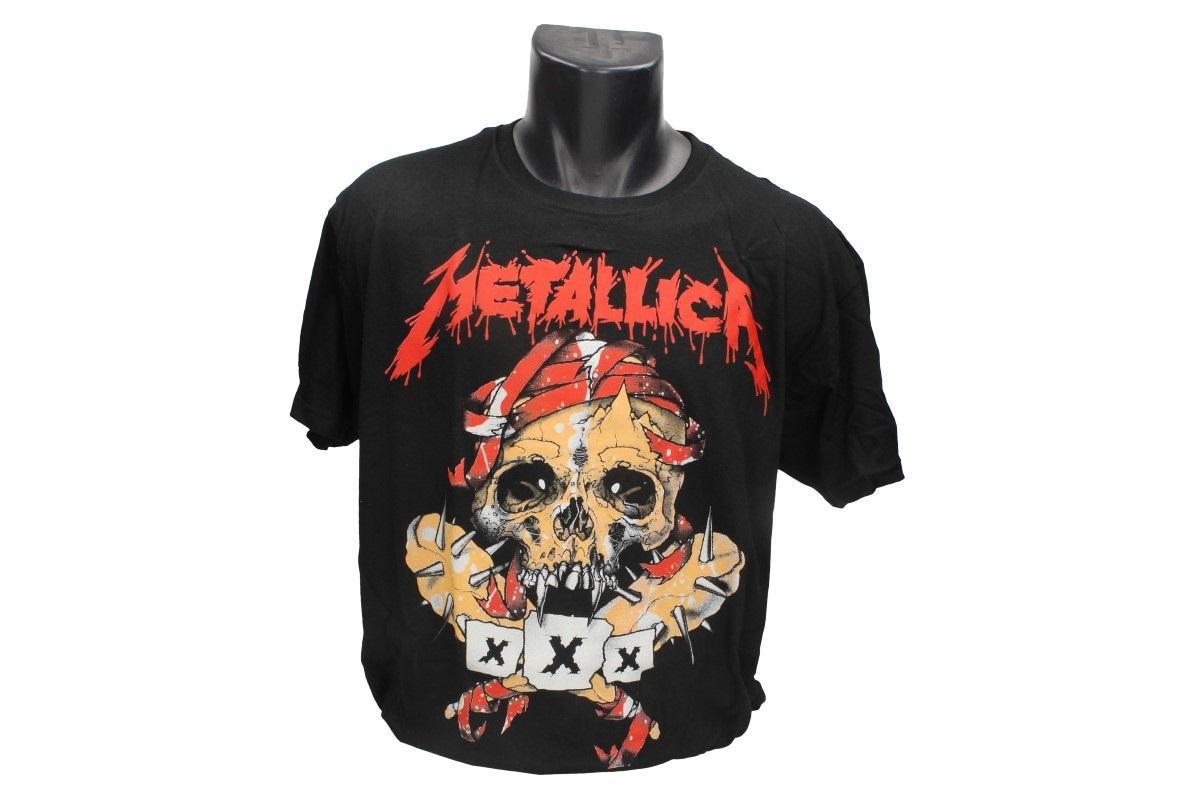 Foto 1 - Tričko Metallica, červený nápis - Tričko je vhodné pro každodenní nošení do zaměstnání nebo za zábavou.  Vtipné tričko je vyrobeno ze 100% bavlny a jeho velikost splňuje klasickou konfekci.