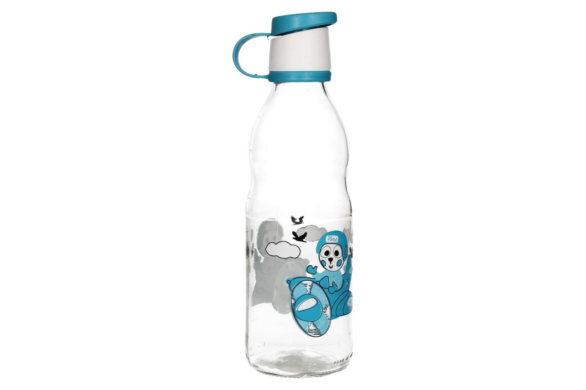 Foto 1 - Skleněná láhev BIMBO 0,5l nepraská, je bezpečná, lehká, praktická a barevná. Díky této láhvi budou vaše děti rády dodržovat pitný režim.