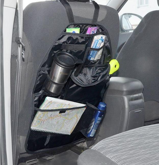 Foto 1 - Kapsář na sedadlo 7v1 do auta - pro pohodlné odložení potřebných věcí jako jsou mapy, pití, tužky, časopis, drobnosti apod. Kapsář na sedadlo by neměl chybět v žádném voze!