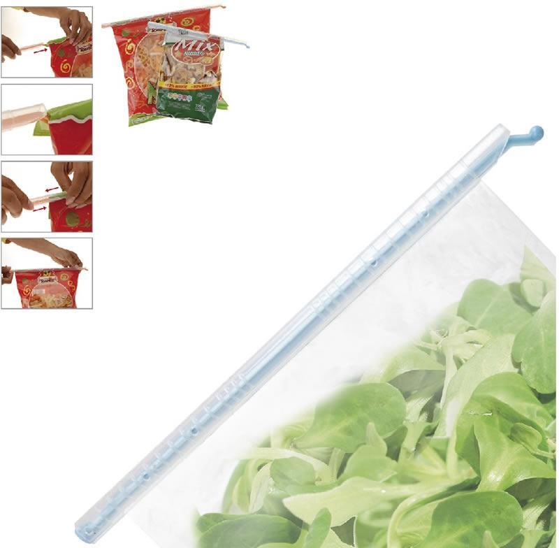Foto 1 - Sada 4 ks univerzálních skřipců - uzávěrů na sáčky, které dokonale ochrání vaše potraviny proti vlhkosti, škůdcům a jiným nepříznivým vlivům.