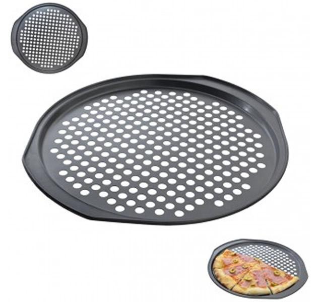 Foto 1 - Perforovaná forma na pizzu s nepřilnavým povrchem, se kterou bude vaše domácí pizza krásně propečená a křupavá