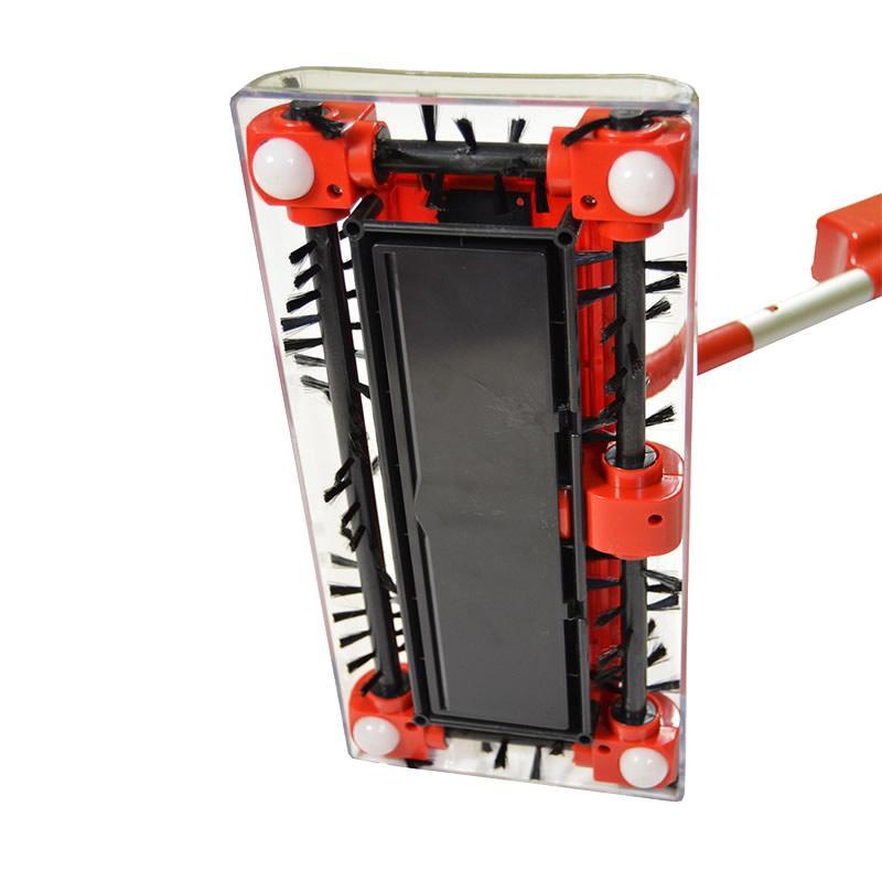 Foto 1 - Elektrický zametač se 4 kartáči - Nový revoluční způsob uklízení bez víření prachu. 4 silně rotující kartáče elektrického uklízeče sbírají po všech stranách drobné i větší nečistoty