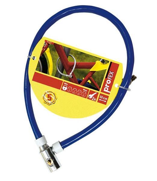 Foto 1 - Zámek na kolo lankový - 50 cm, který ochrání vaše kolo před zloději