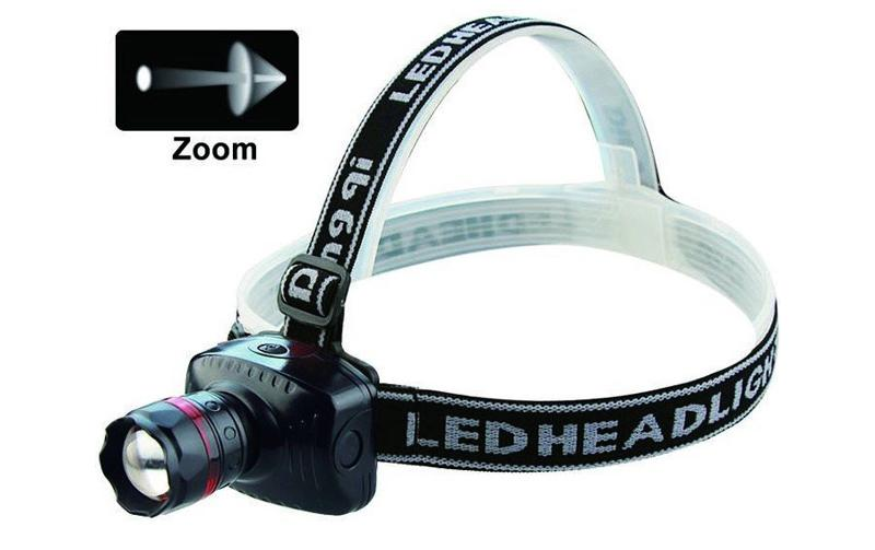 Foto 1 - Silná LED čelovka se ZOOMEM vhodná pro rybáře, cyklisty, trempy nebo na dětské tábory apod.