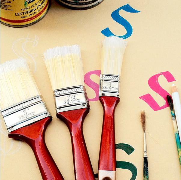 Foto 1 - Sada lakýrnických plochých štětců vhodných zejména pro akrylátové (vodou ředitelné) barvy