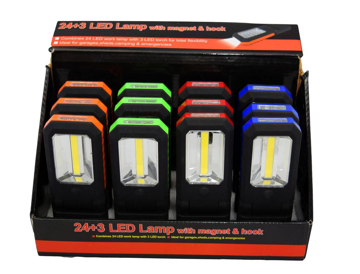 Foto 1 - 3W Super svítivá COB chip + 3 Led svítilna lámací s háčkem pro uchycení je revoluční výrobek, kde díky nové technologii COB chipu je dosaženo menší spotřeby a vyššího svitu