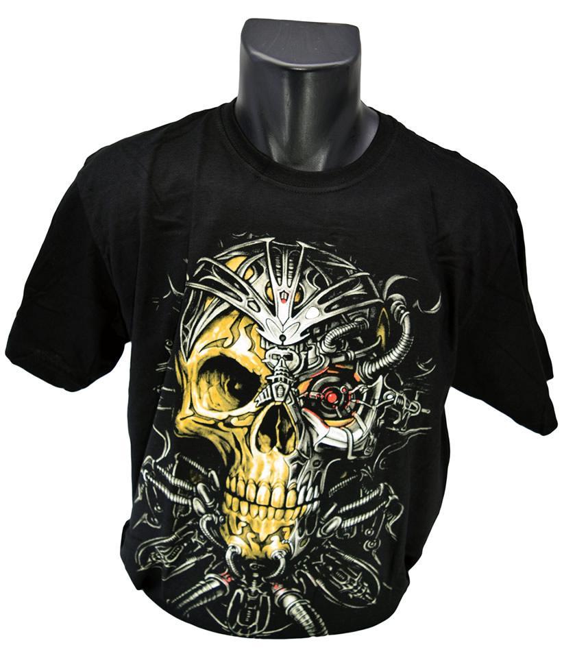 Foto 1 - Vtipné tričko s kostlivcem s motivem terminátora vhodné pro každodenní nošení a potěšení Vašeho okolí, kvalitní obrázek na tričku, vhodné nejen na motorku!