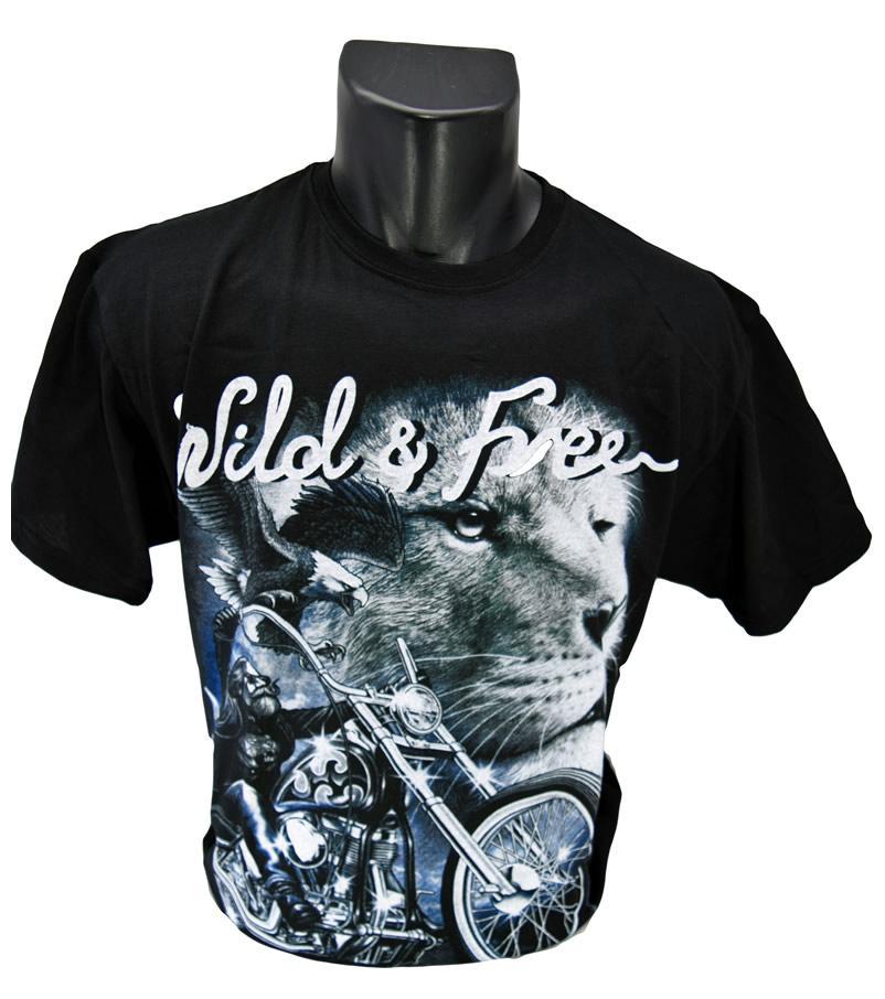 Foto 1 - Tričko Wild and Free je vhodné pro každodenní nošení a potěšení Vašeho okolí, kvalitní obrázek na trič