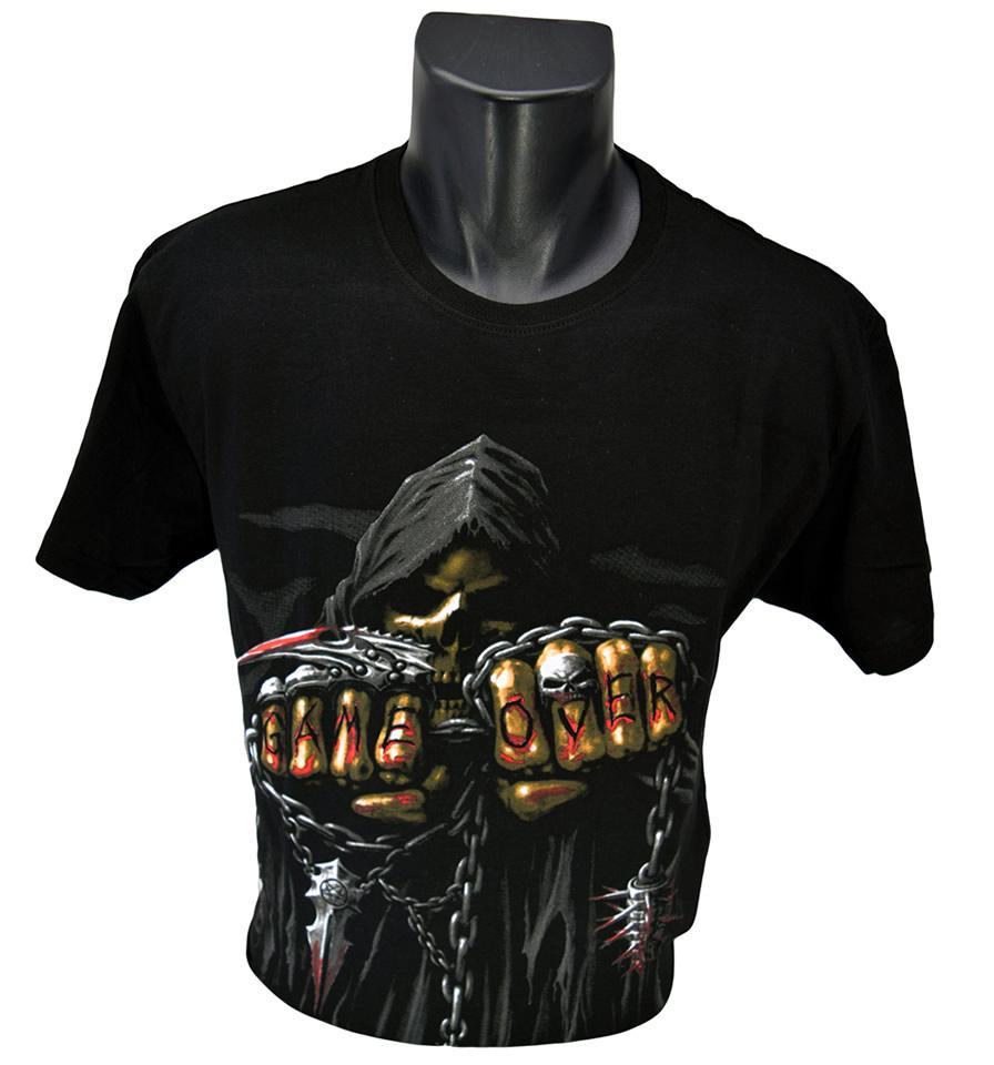 Foto 1 - Vtipné tričko kostlivec game over - je vhodné pro každodenní nošení nebo do společnosti, tričko je vyrobené z kvalitního materiálu a má kvalitní potisk