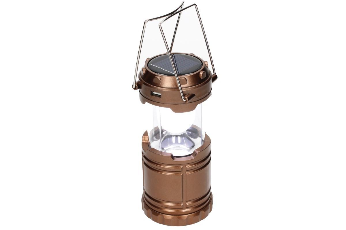 Foto 1 - Lampa pro kemping + solární nabíječka 2v1 - Nabíjecí výsuvná lampa a solární nabíječka v jednom je velmi výkonné světlo, které se hodí na cesty, kempování v přírodě, pod stan nebo do chaty