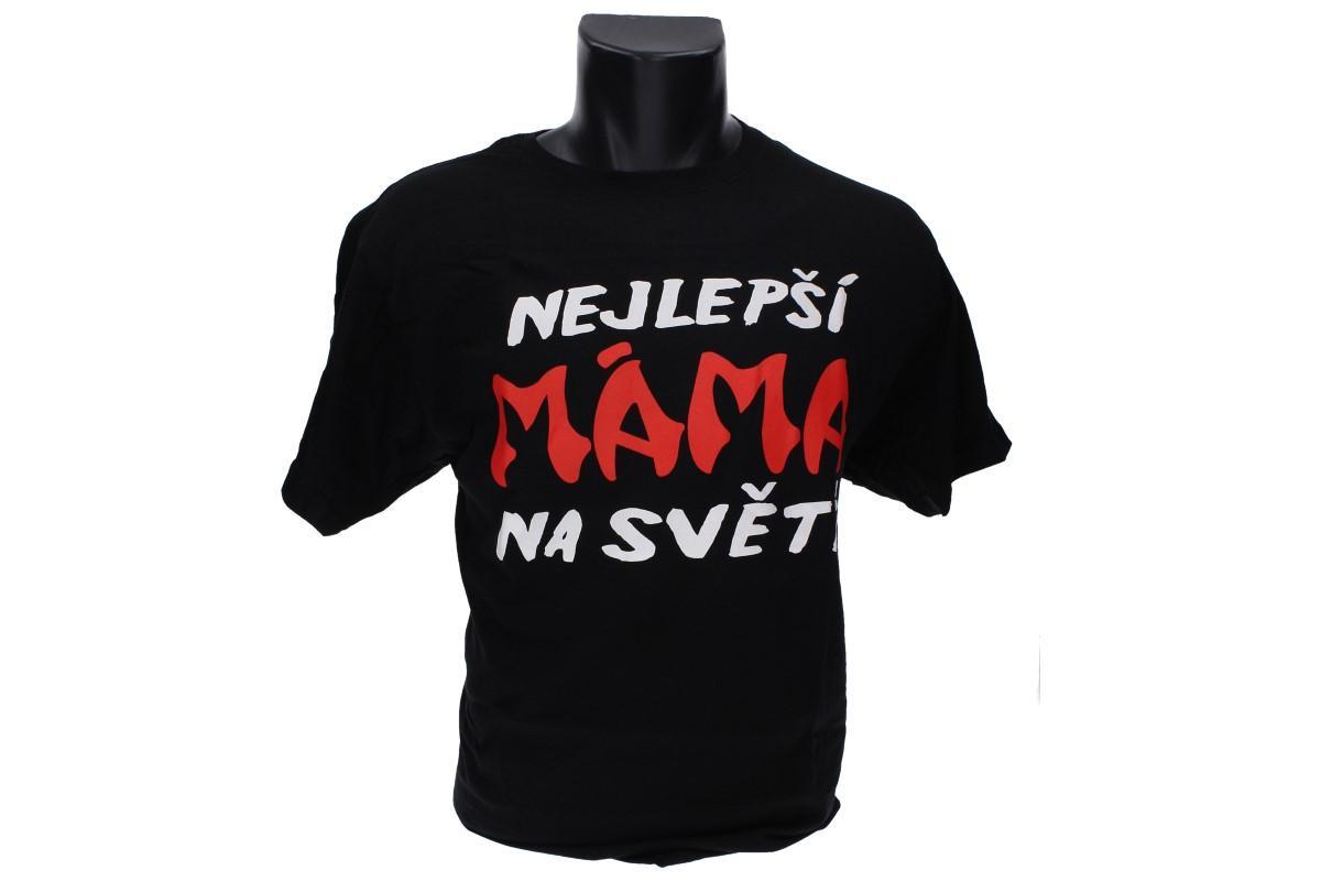 Foto 1 - Tričko nejlepší máma na světě - je vhodné pro každodenní nošení do zaměstnání nebo za zábavou. Vtipné tričko je vyrobeno ze 100% bavlny a jeho velikost splňuje klasickou konfekci