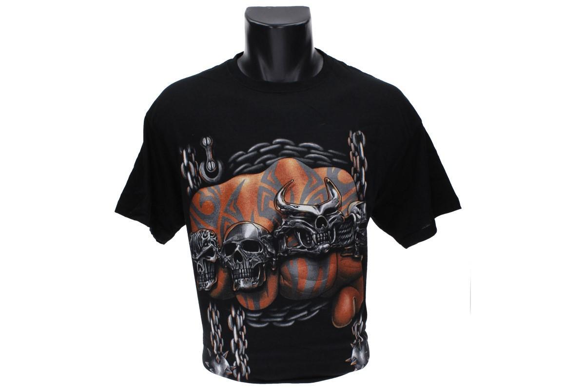 Foto 1 - Tričko zaťatá pěst, lebky- je vhodné pro každodenní nošení do zaměstnání nebo za zábavou. Vtipné tričko je vyrobeno ze 100% bavlny a jeho velikost splňuje klasickou konfekci