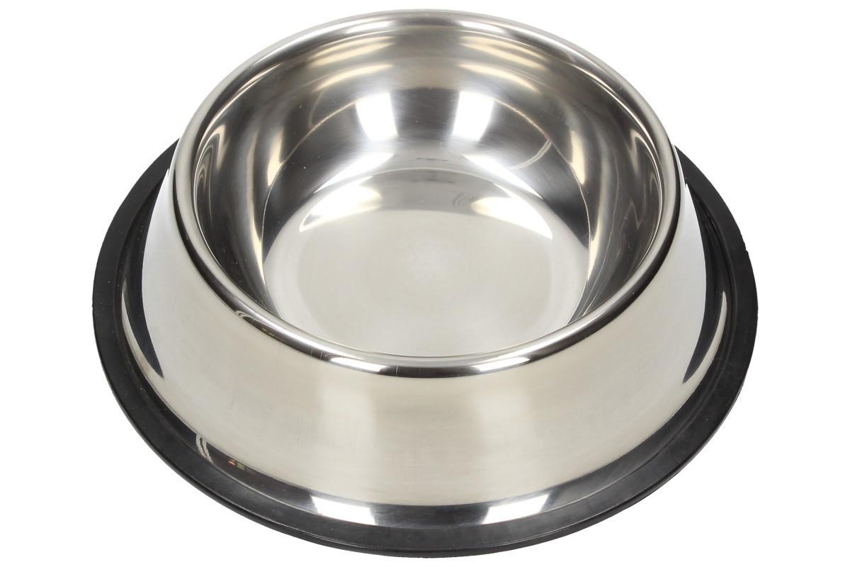 Foto 1 - Miska pro psa střední 16cm nerez - Výhodou nerezových misek je snadná údržba, dlouhá životnost, odolnost a čistota. Lze použít na vodu, granulované i mokré krmivo. Obsah misky je 700 ml a průměr 16 cm