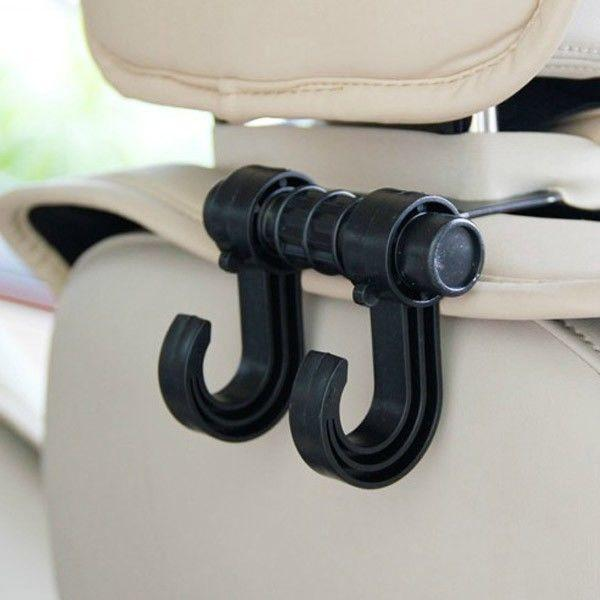 Foto 1 - Držák na zavazadla do auta na opěrku hlavy Vám v autě ušetří místo. Lze zavěsit na libovolnou opěrku hlavy, udrží až 13 kg!