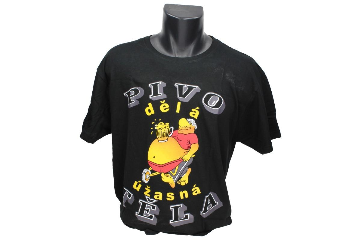 Foto 1 - Tričko Pivo dělá úžasná těla - je vyrobeno ze 100% bavlny a má kvalitní potisk. Tričko je vhodné pro zábavu nebo na normální nošení.