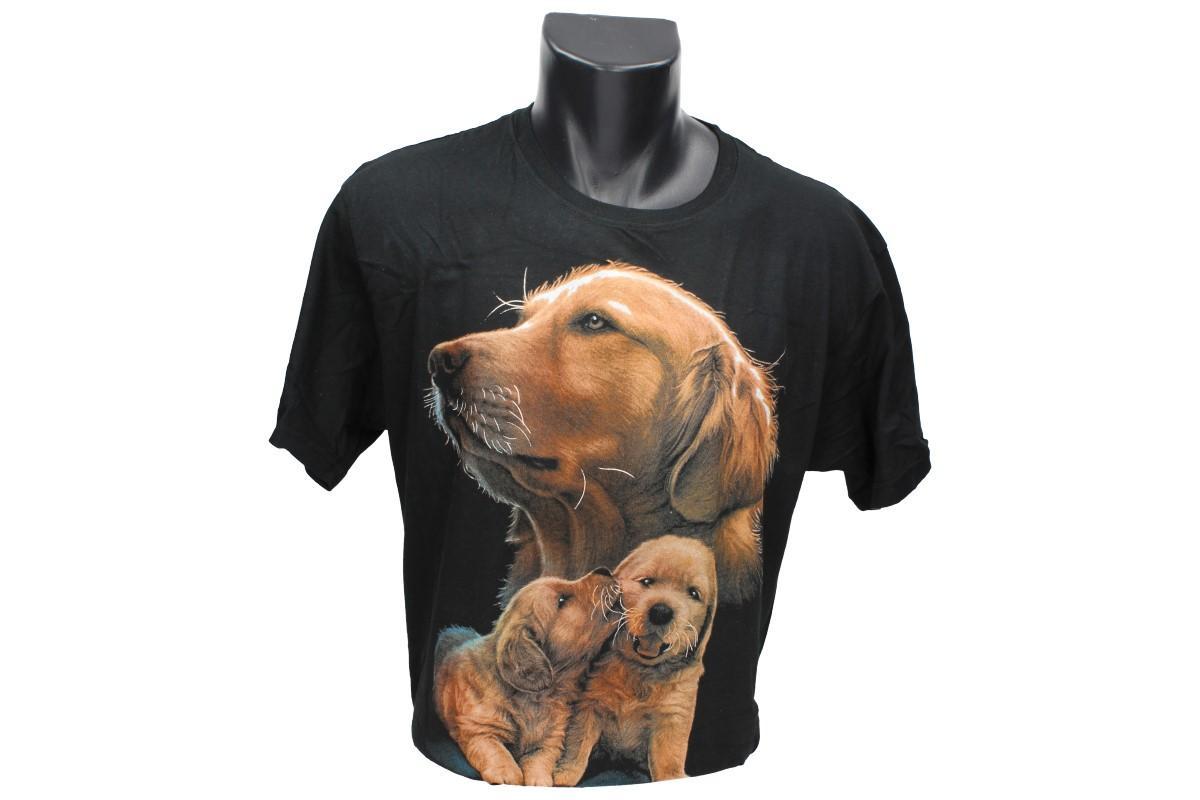 Foto 1 - Tričko hnědí psi -  - je vyrobeno ze 100% bavlny a má kvalitní potisk. Tričko je vhodné pro zábavu nebo na normální nošení