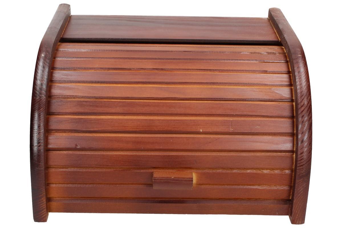 Foto 1 - Chlebovka dřevěná malá - je vyrobena ze smrkového dřeva a má v přední části vysouvací víko. Díky chlebovce bude Vaše pečivo déle čerstvé