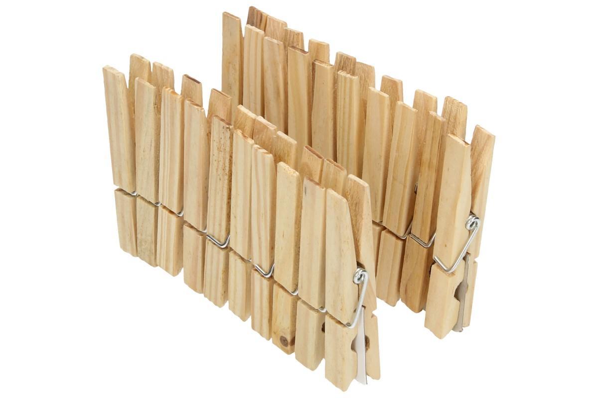 Foto 1 - Kolíček dřevěný 20 kusů Klasik - klasický osvědčený tvar, vzhled a funkce! Klasický kolíček v sadě 20 kusů je ideálním řešením pro každodenní použití