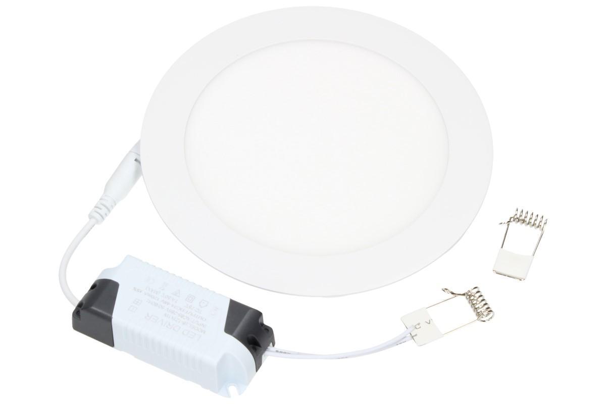 Foto 1 - Supertenký, úsporný, vysoce svítivý LED stropní panel 12W kulatý s extrémně dlouhou životností, průměr 170 x 10 mm
