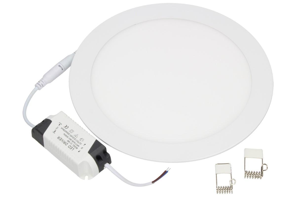 Foto 1 - Supertenký, úsporný, vysoce svítivý LED stropní panel 18W kulatý s extrémně dlouhou životností, průměr 225 x 10 mm