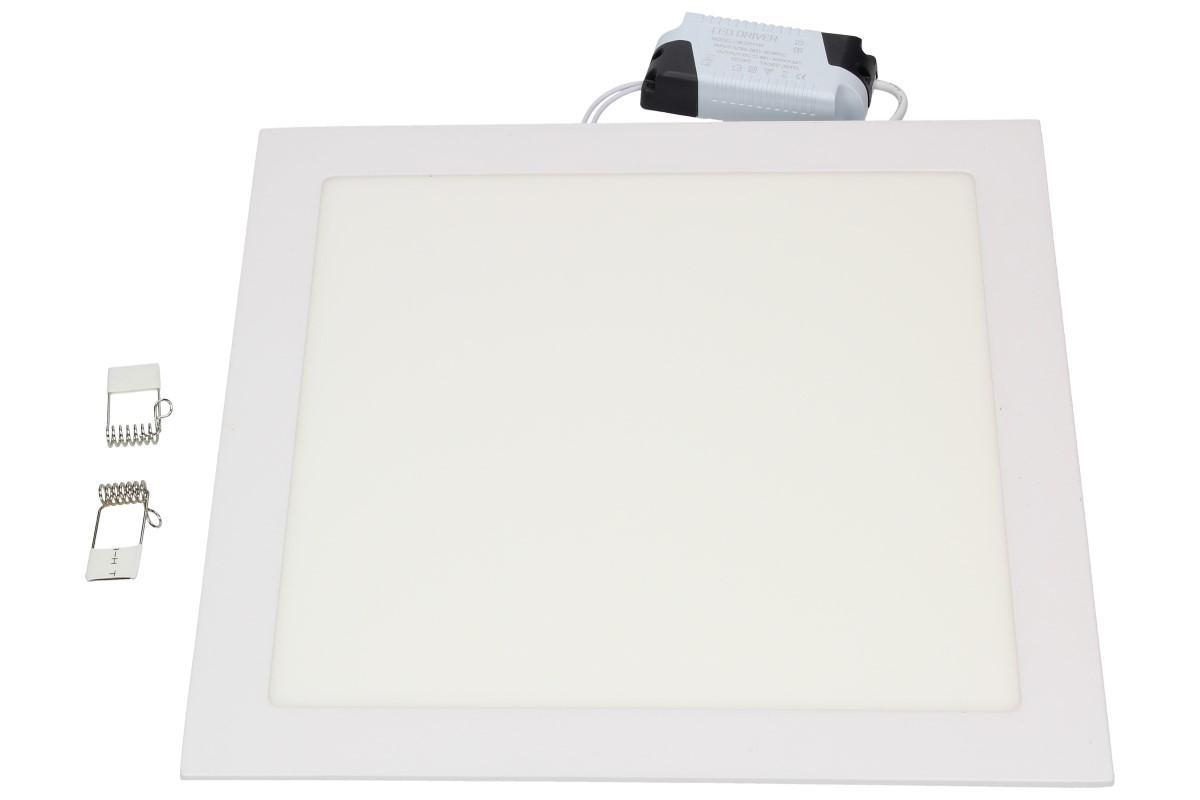 Foto 1 - Stropní panel 24w hranatý zápustný - Supertenký, úsporný, vysoce svítivý LED stropní panel 18W s extrémně dlouhou životností, rozměr 300 x 300 x 10 mm