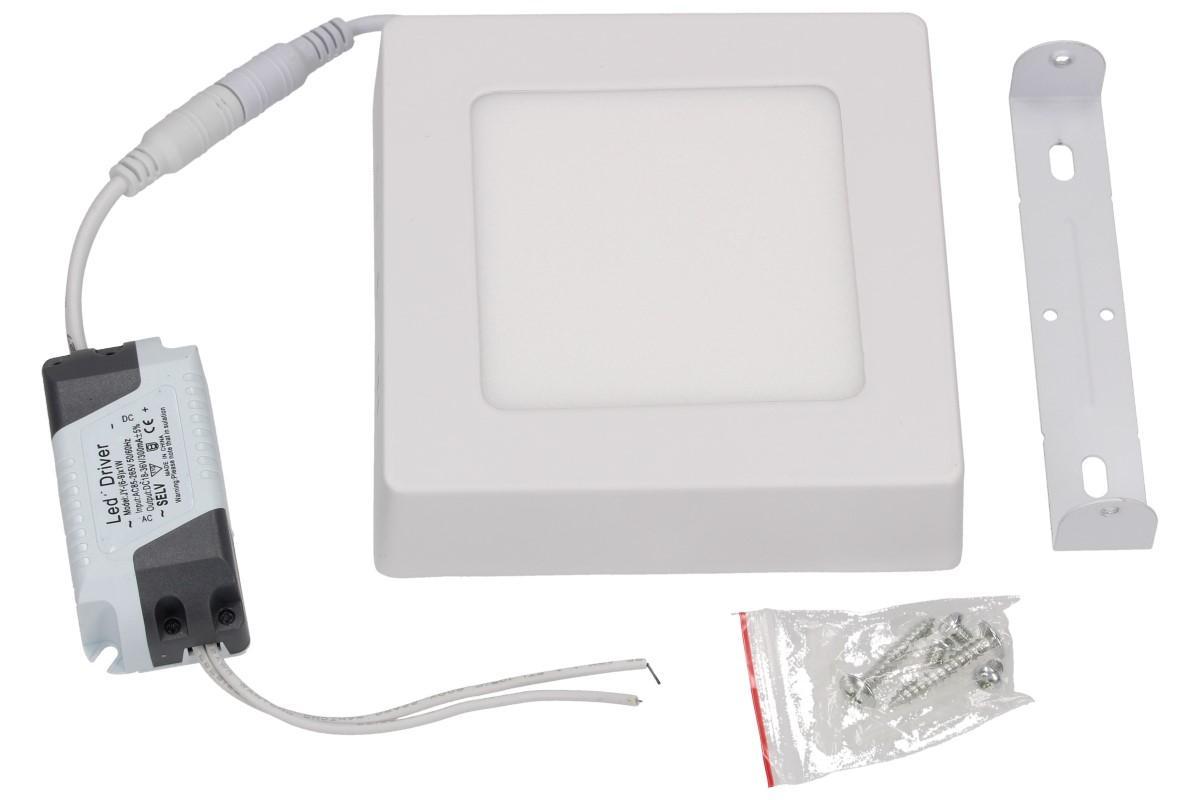 Foto 1 - Úsporný, vysoce svítivý LED stropní panel 6W s bílým rámečkem nezápustný čtvercový