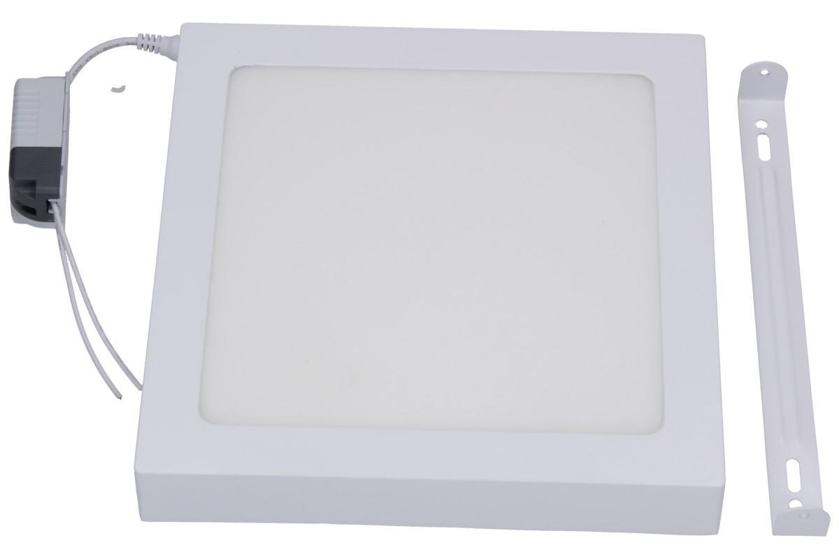 Foto 1 - Úsporný, vysoce svítivý LED stropní panel 18W s bílým rámečkem nezápustný čtvercový