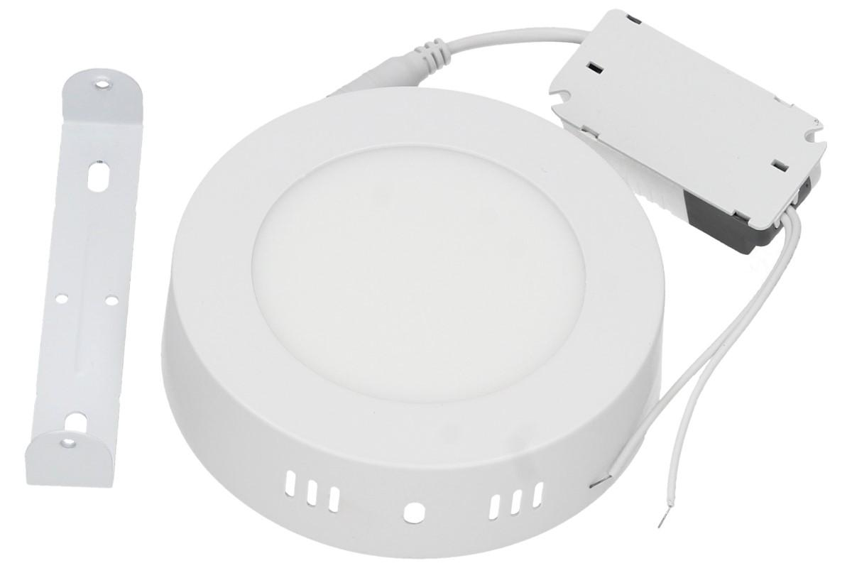 Foto 1 - Stropní panel 6w kulatý nezápustný - Úsporný, vysoce svítivý LED stropní panel 6W s bílým rámečkem nezápustný kulatý je moderní svítidlo, které se líbí