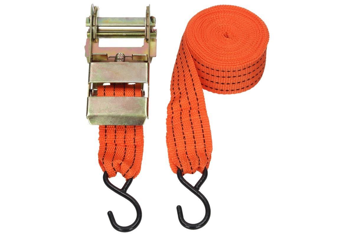 Foto 1 - Popruhy s ráčnou 5,5m a nosnost 2T - Ráčnový utahovák zajistí dokonalé napnutí lana například při vožení těžších nákladů na vozíku