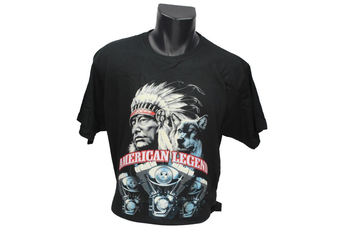Foto 1 - Tričko indián American Legend - je výborné tričko nejen pro motorkáře, ale pro všechny, komu se tento styl American Legend líbí