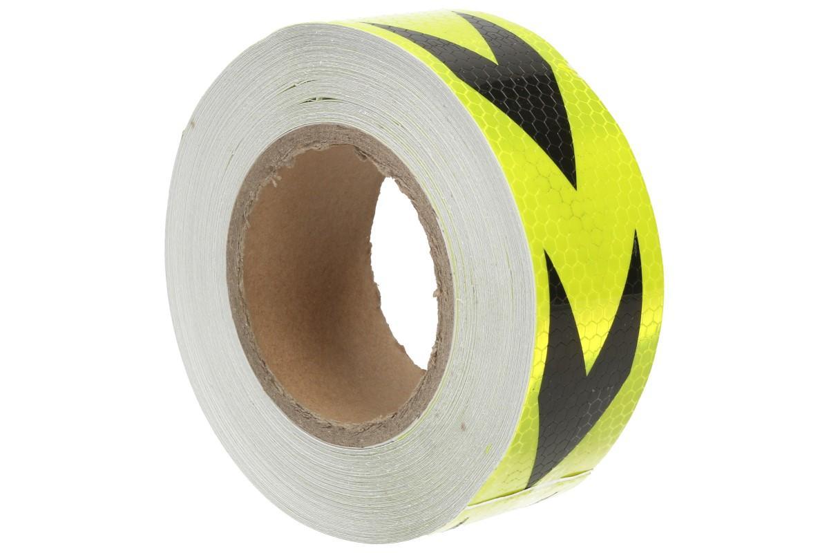 Foto 1 - Reflexní lepící páska 25m šipky - celá role 25 metrů. Tři varianty reflexní lepící pásky, exkluzivní nabídka pouze u nás!