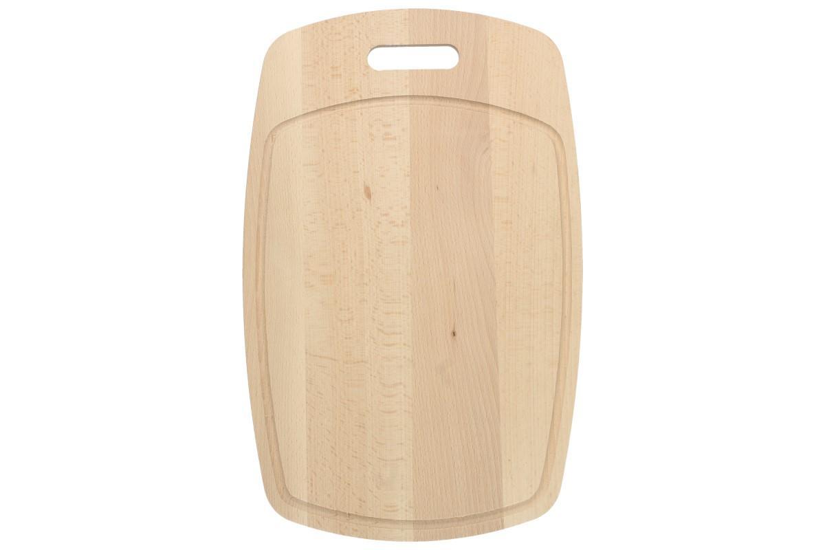Foto 1 - Krájecí prkénko dřevěné 44cm x 28cm s drážkou a držadlem je kvalitní kuchyňské prkénko vhodné pro každodenní použití, je vybaveno odtokovou drážkou a držadlem