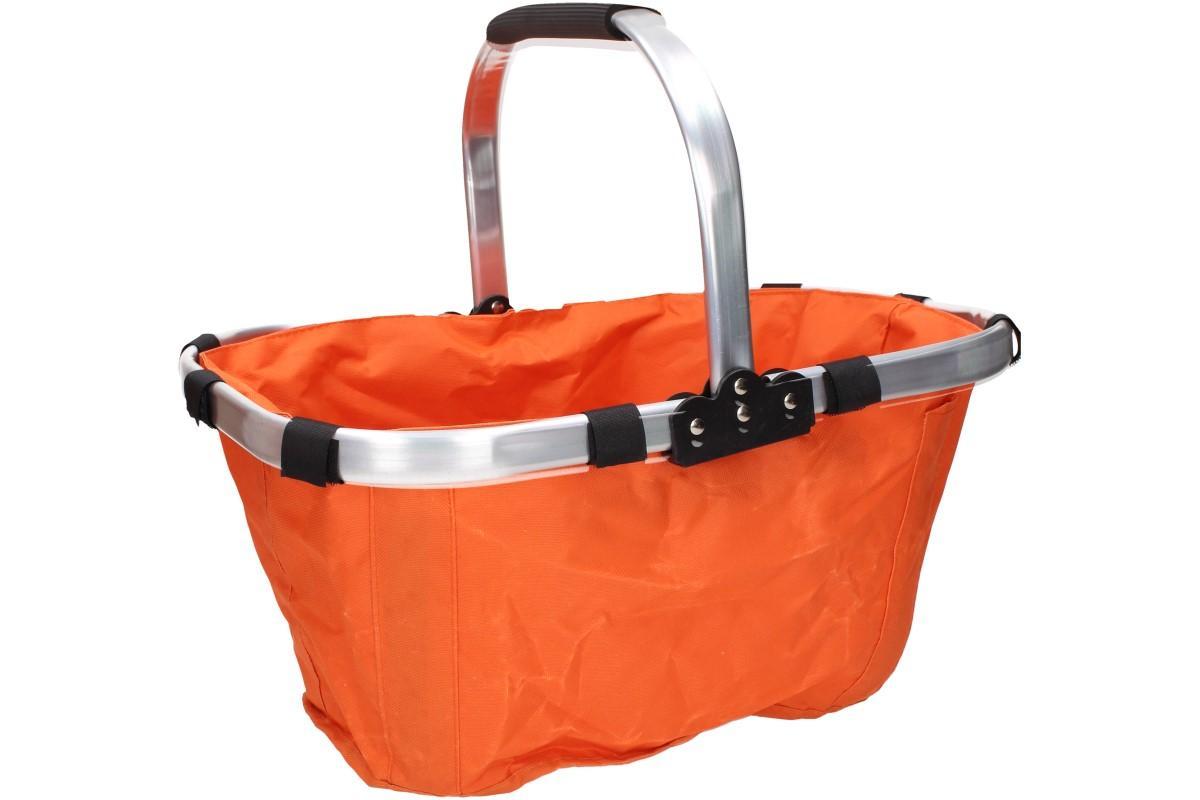 Foto 1 - Skládací piknikový nebo nákupní košík s lehkou hliníkovou konstrukcí a praktickou kapsičkou! Ideální pro nákupy, výlety nebo pikniky v přírodě