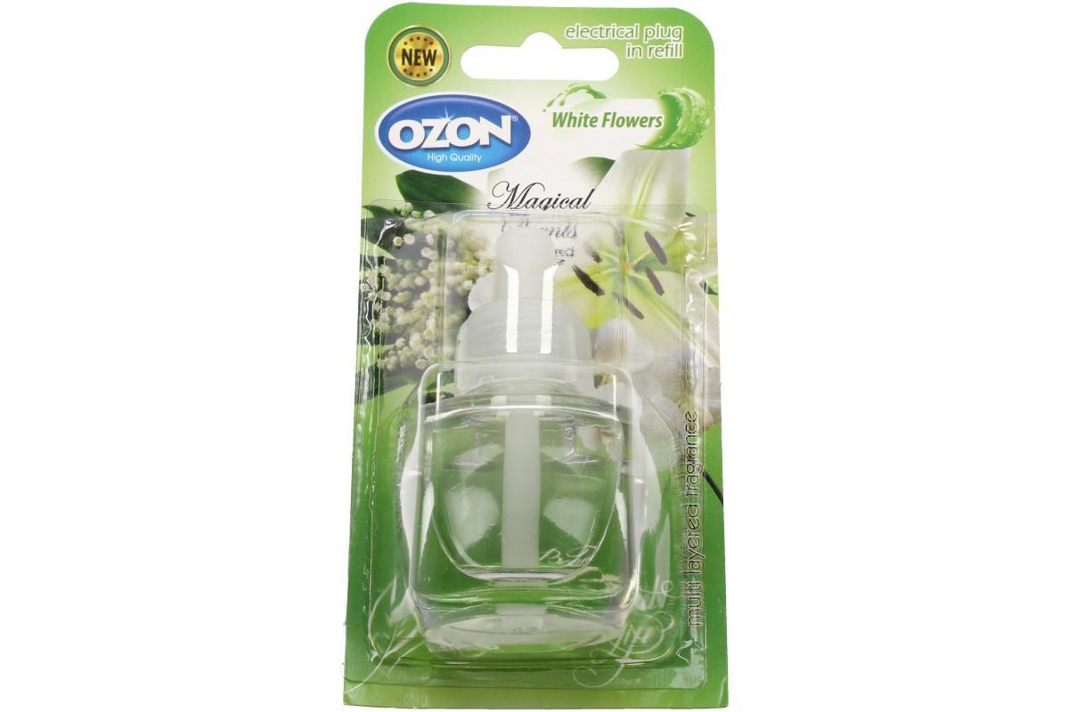 Foto 1 - Ozon - náplň do elektrického osvěžovače White flowers smyslným a hřejivým aroma provoní váš pokoj tekutá náplň do elektrického osvěžovače vzduchu. Dopřejte si příjemnou vůni white flowers.