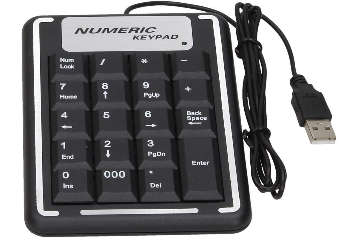 Foto 1 - Přídavná číselná klávesnice - Přídavná numerická klávesnice s rozhraním USB v klasickém, ergonomickém designu. Klávesnice je odolná a díky skvělé konstrukci nabízí pohodlnou pozici při psaní.