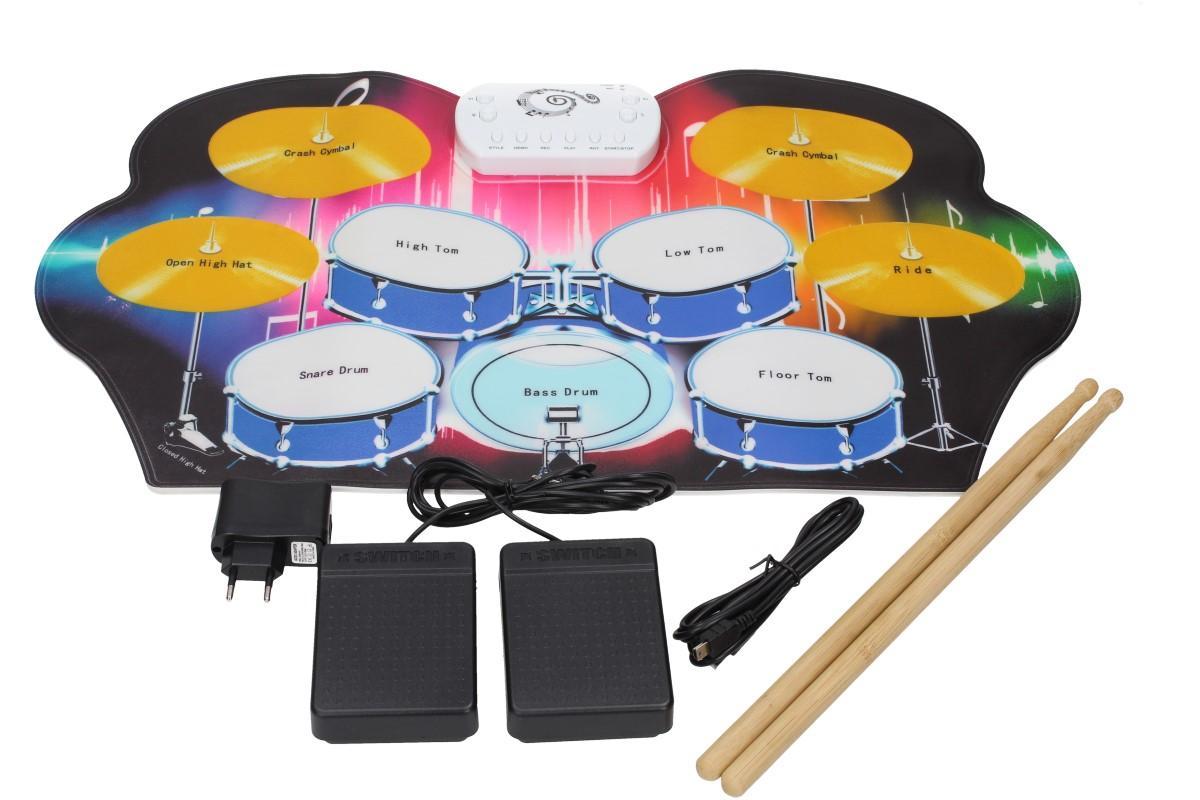 Foto 1 - BUBNY Interaktivní hudební podložka pro děti - Hudební hračka, která rozvíjí kreativitu, koncentraci a smysl pro rytmus! Obsahuje zvuky bubnů a činelů i skladby