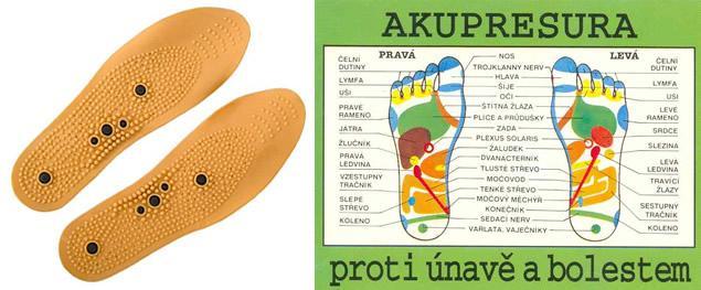 Akupresurní magnetické vložky do bot