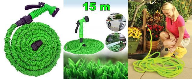 Smršťovací zahradní hadice 15 metrů