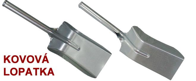 Lopatka kovová - uhelka
