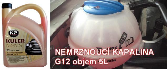 K2 KULER G12/G12+ 5 l - nemrznoucí kapalina do chladiče do -35 °C