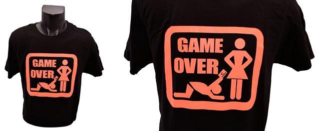 Tričko Game Over oranžový nápis